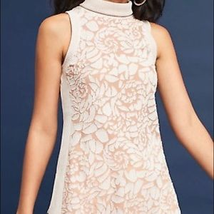 Anthropologie Meadow Rue floral ribbed burnout top
